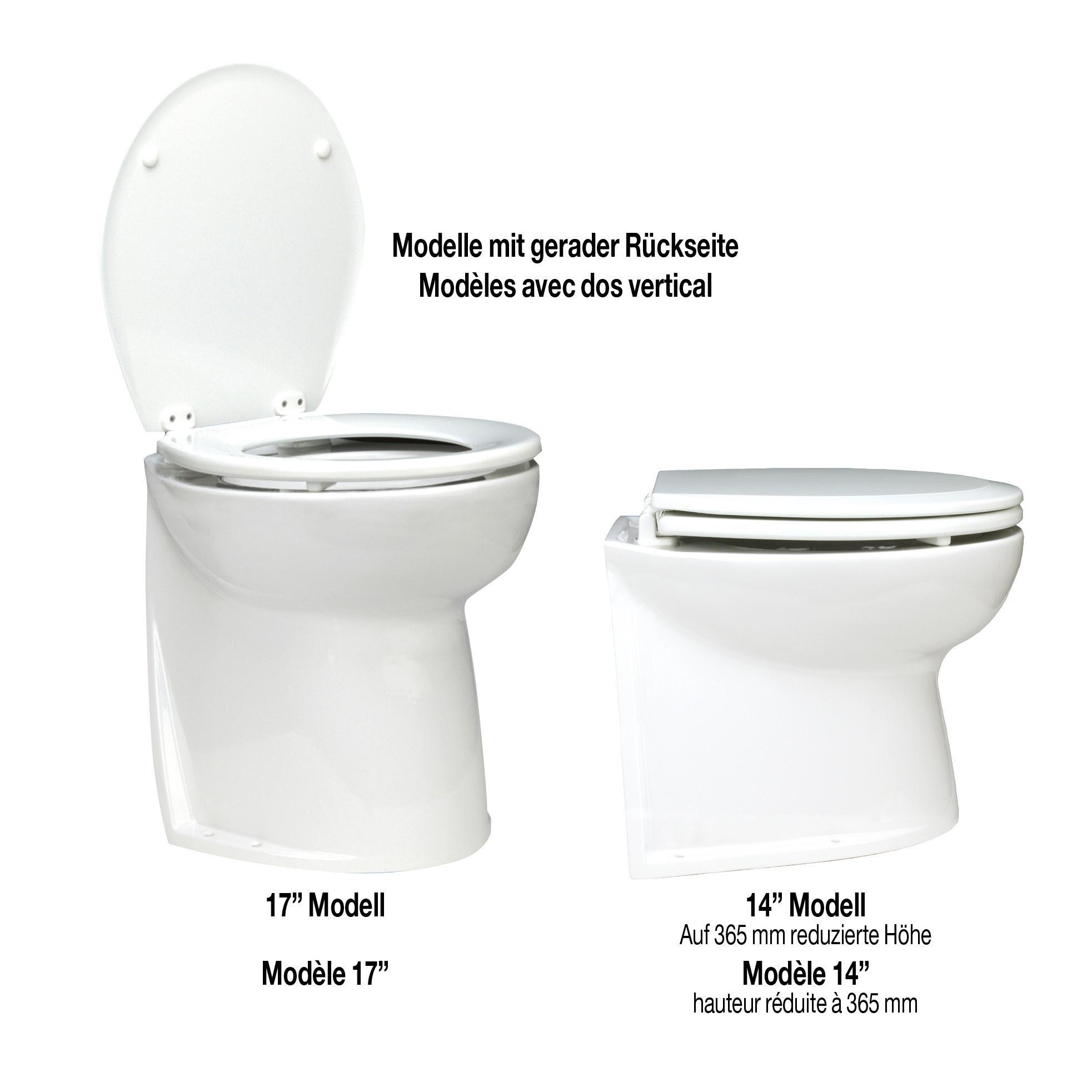 Geräuscharme elektrische Deluxe Flush Toiletten, Modelle mit senkrechter  Rückseite