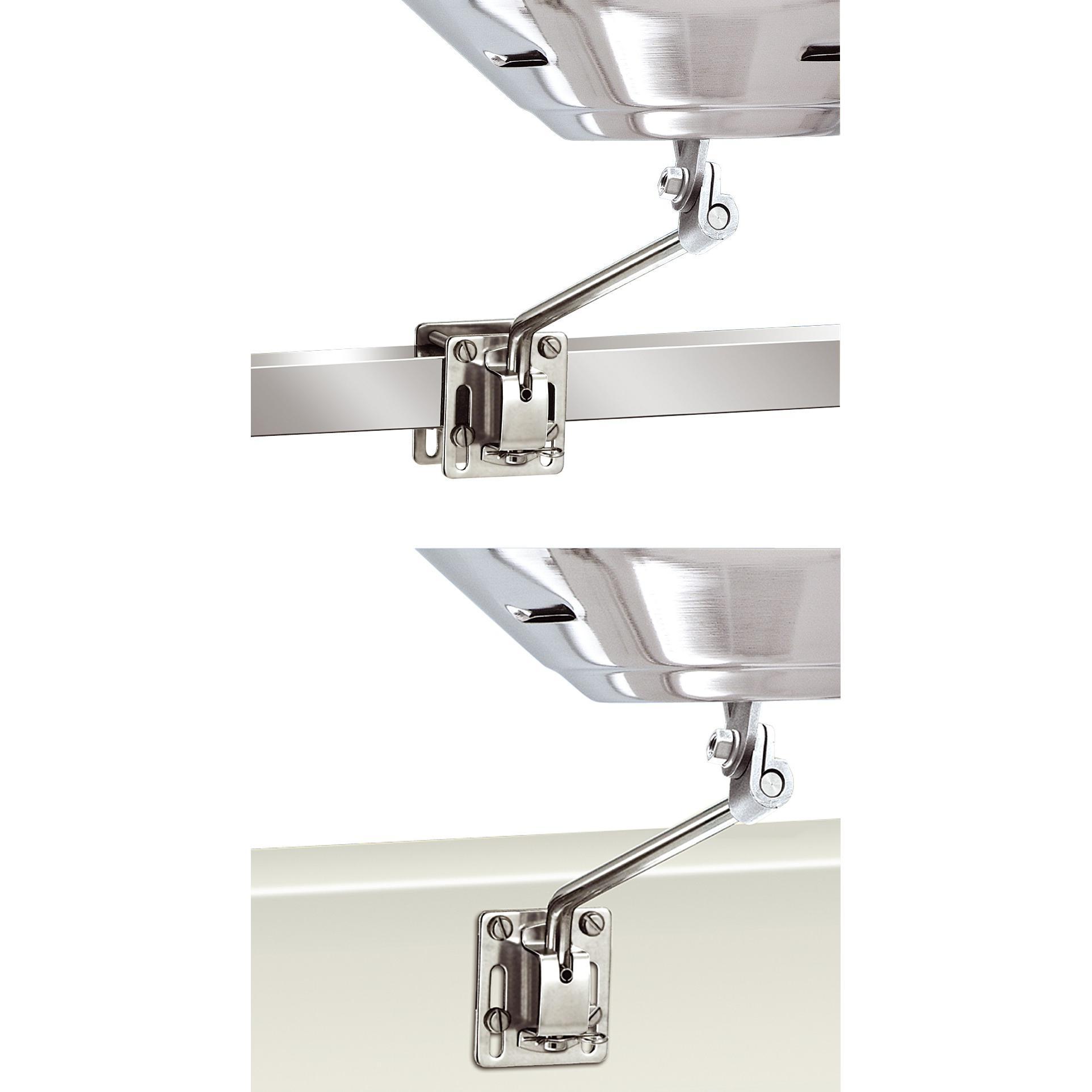 magma halterung f r vierkantrohr oder senkrechte fl chen f r marine kettle serie magma grill. Black Bedroom Furniture Sets. Home Design Ideas